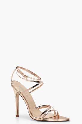boohoo Strappy Pointed Toe Heels