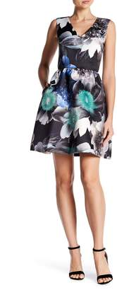 Cynthia Steffe CeCe by Rose V-Neck Fit & Flare Dress