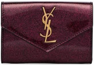 Saint Laurent glitter envelope wallet