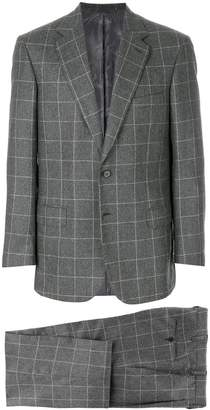 Brioni woven grid formal suit