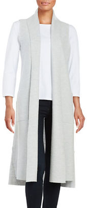 Lord & Taylor Merino Wool Long Vest $200 thestylecure.com