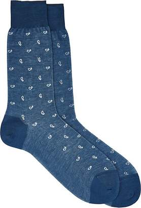 Barneys New York Men's Paisley Socks - Blue