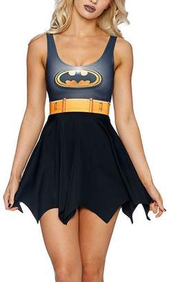 Lady Queen Women's Batman Scoop Skater Dress Clubwear Ball Party Skirt