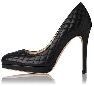 LK BENNETT Sledge Quilted Black $375 thestylecure.com