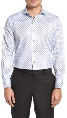 Lorenzo Uomo Trim Fit Floral Print Dress Shirt