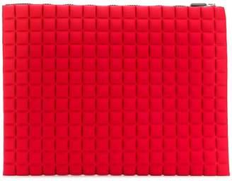 NO KA 'OI No Ka' Oi extra large grid textured pouch