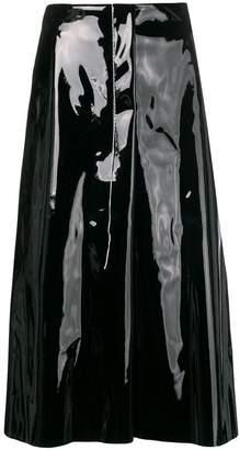 Marni stitched vinyl midi skirt