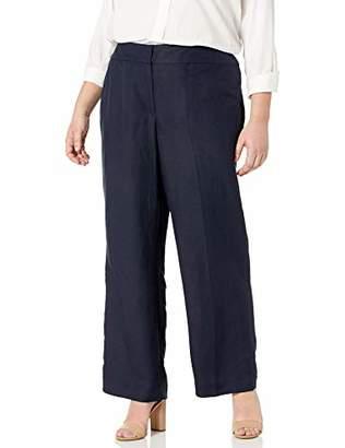 Nine West Women's Plus Size Linen Pant