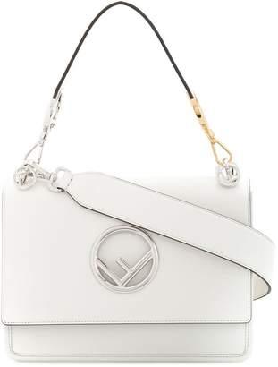Fendi White Leather Kan I F handbag