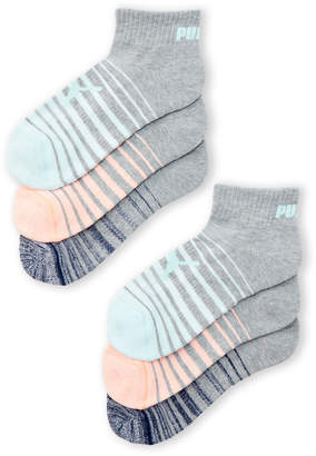 Puma 6-Pack Cushioned Quarter Crew Socks