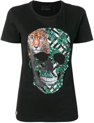 4e4d57e8a Philipp Plein embellished skull T-shirt