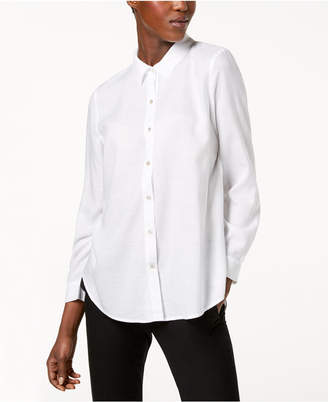 Eileen Fisher Tencel Long-Sleeve Shirt, Regular & Petite