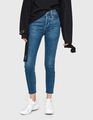 RE/DONE Originals High Rise Ankle Crop Jean in Dark Wash