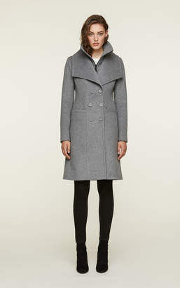 Soia & Kyo KALIA double-breasted classic wool coat with bib collar