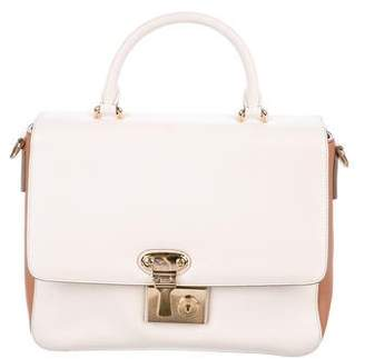 Dolce & Gabbana Leather Colorblock Satchel