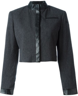 Stephen Sprouse Pre-Owned trimmed crop jacket