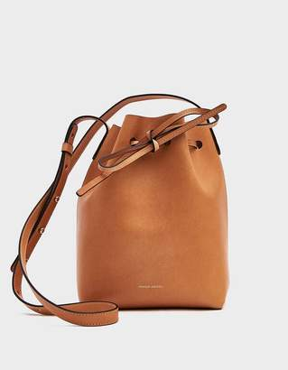 Mansur Gavriel Mini Bucket Camello and Raw