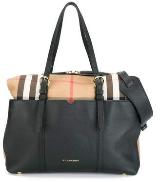 Burberry House Check and Leather Baby Changing Bag