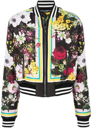 Dolce & Gabbana Floral Bouquet printed bomber jacket
