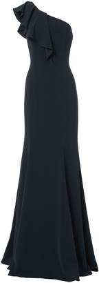 Jay Godfrey Osgood One Shoulder Navy Gown