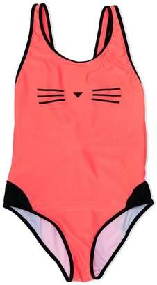 Karl Lagerfeld TEEN Choupette print swimsuit