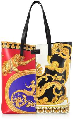 Versace Pillow Talk Printed Leather Studded Tote Bag