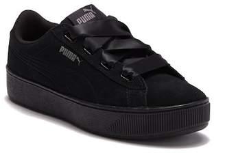 Puma Vikky Platform Suede Ribbon Sneaker