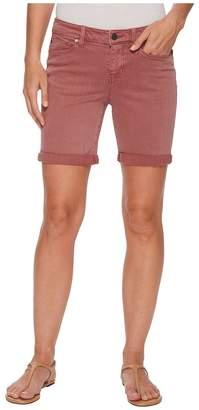 Liverpool Corine Walking Rolled Shorts in Slub Stretch Twill in Roan Rouge Women's Shorts