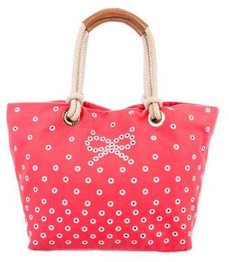 Anya Hindmarch Eyelet Canvas Tote