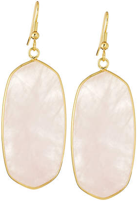 Panacea Elongated Iridescent Stone Drop Earrings, Light Pink