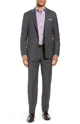 Hickey Freeman Classic Fit Plaid Wool Suit