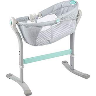 Summer Infant by Your Bed Sleeper, Grey/Teal Stripe