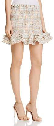 Petersyn Barrett Smocked Mini Skirt
