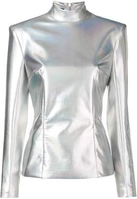Balmain rear zip fastening jacket