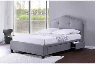 Asstd National Brand Baxton Studio Armeena Modern Storage Bed with Upholstered Headboard