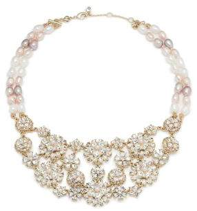 Carolee Blushing Brides Freshwater Pearl and Simulated Faux Pearl Statement Necklace