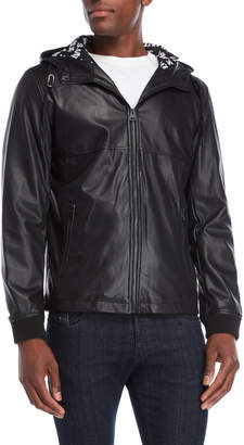 Levi's Perforated Faux Leather Hooded Jacket