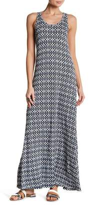 Karen Kane Diamond Stripe Print Tasha Maxi Dress