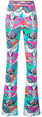 Emilio Pucci psychedelic print flared trousers