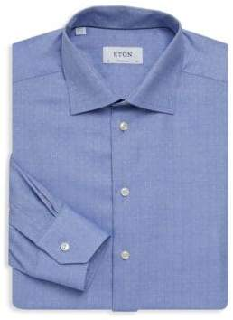 Eton Contemporary-Fit Herringbone Dress Shirt
