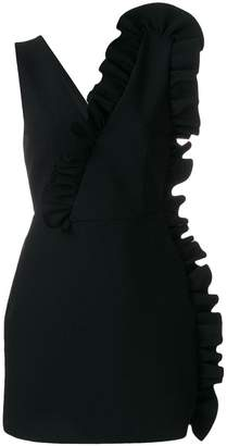 MSGM asymmetric ruffle mini dress