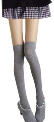 The Source Force Over The Knee Sexy Cotton Compression Socks - Gray