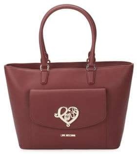 Love Moschino Faux Leather Tote Bag