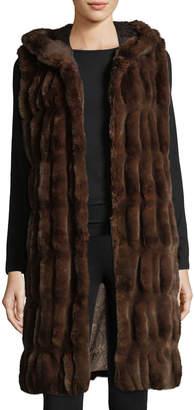 Couture Fabulous Furs Faux-Fur Hooded Long Vest