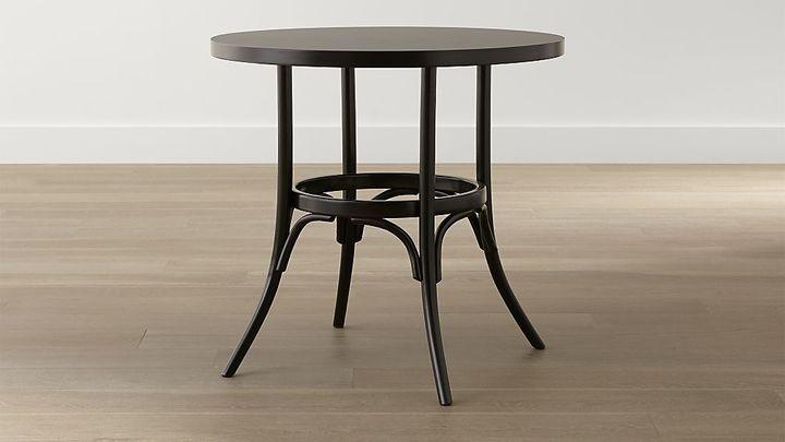Crate & Barrel Vienna Black Round Bistro Table