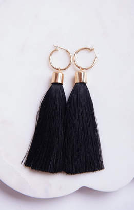 MUMU Bree Tassel Earrings ~ Black/Gold