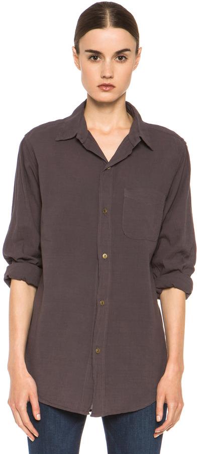 Current/Elliott Prep School Cotton Shirt in Washed Brown