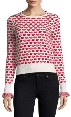 French Connection Kiss Ruffled-Cuffs Sweater