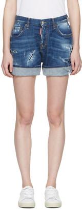 Dsquared2 Blue Kawaii Shorts $560 thestylecure.com