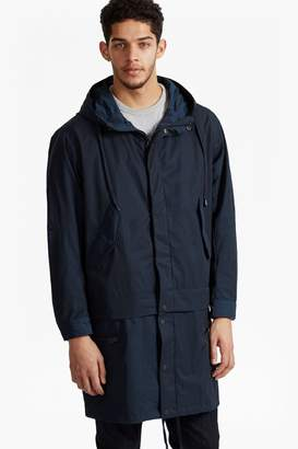 French Connection Lightweight Nylon Detachable Parka Coat